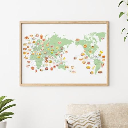 くいしんぼうさんの 世界地図