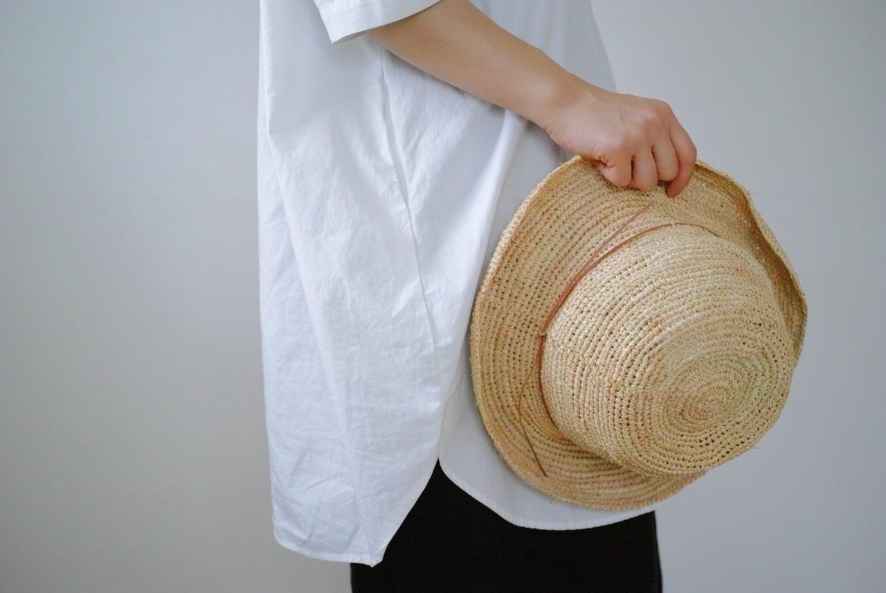 ラフィアの帽子