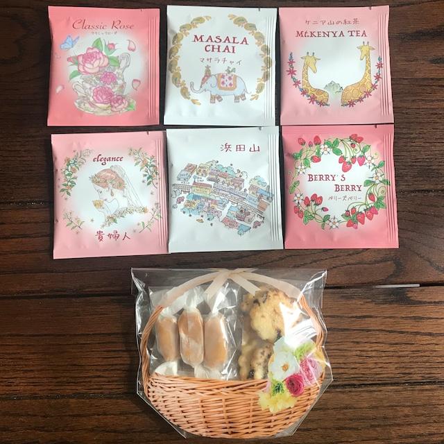 【ポスト投函ミニギフトA】お菓子2種&ティーバッグ6袋