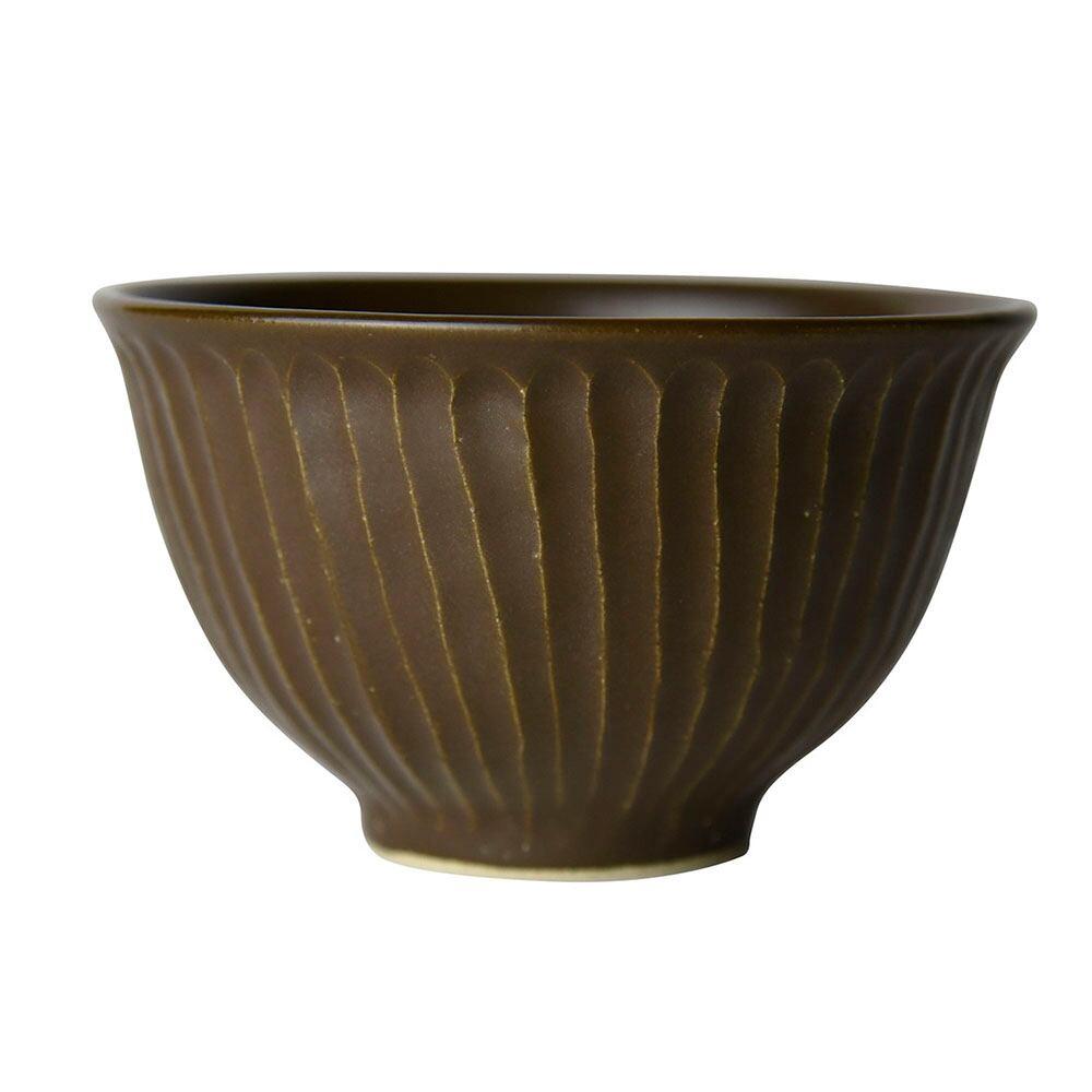 益子焼 つかもと窯 「 SHINOGI 」 飯碗 約11cm ブラウン TS-07