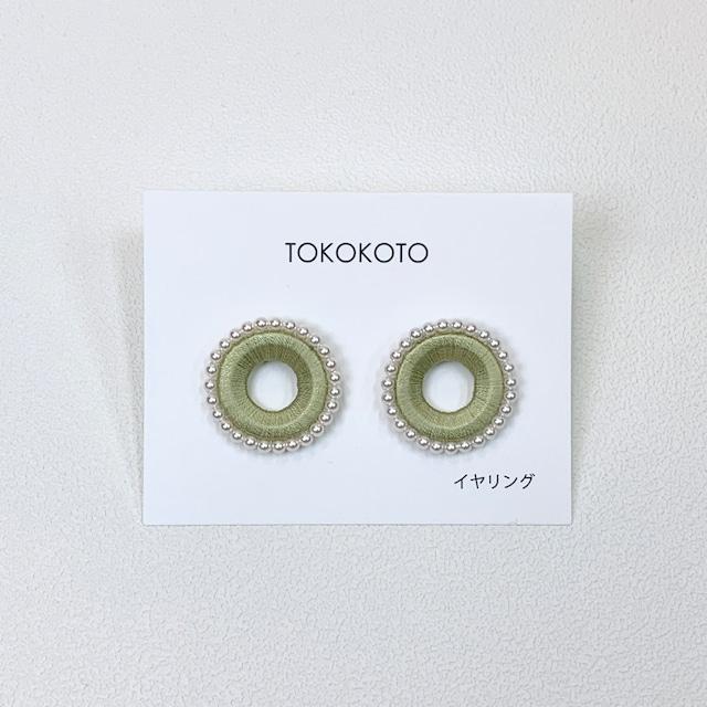 【TOKOKOTO】パールアラウンドマグネットイヤリング