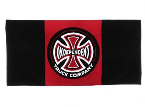 Independent Banner Towel Black Red インデペンデント バスタオル