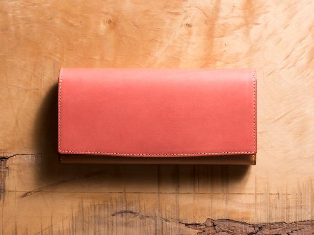 Basic Long wallet #コーラル