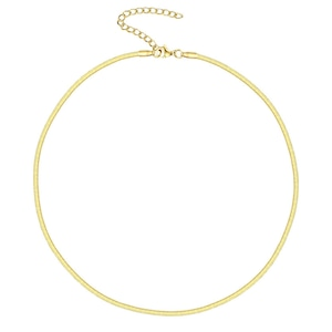 Flat snake chain necklace|ネックレス