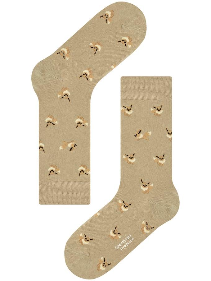 【Pocket Monsters socksappeal】EIEVUI -BEIGE【ポケットモンスター ソックスアピール】イーブイ -ベージュ