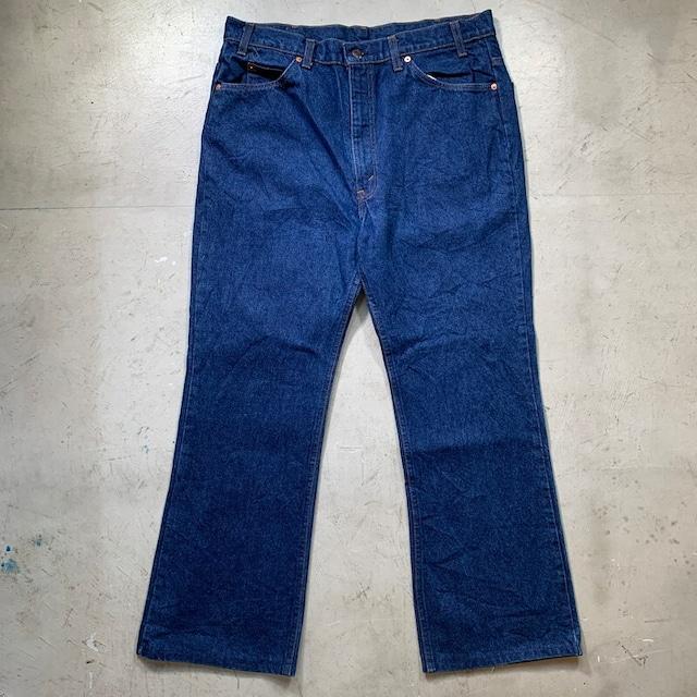 80's Levi's リーバイス 20517-0217 ブーツカットデニム 濃紺 オレンジタブ スモールe 刻印585 グッドコンディション W38 USA製 希少 ヴィンテージ BA-1455 RM1824H