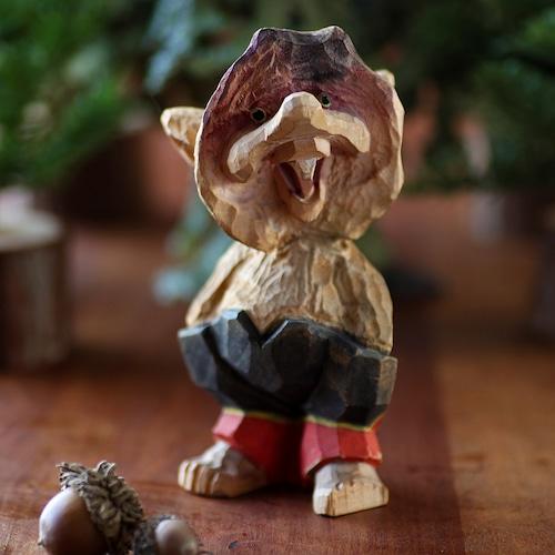 Henning ヘニング Troll トロール 木彫り人形-3 北欧ヴィンテージ