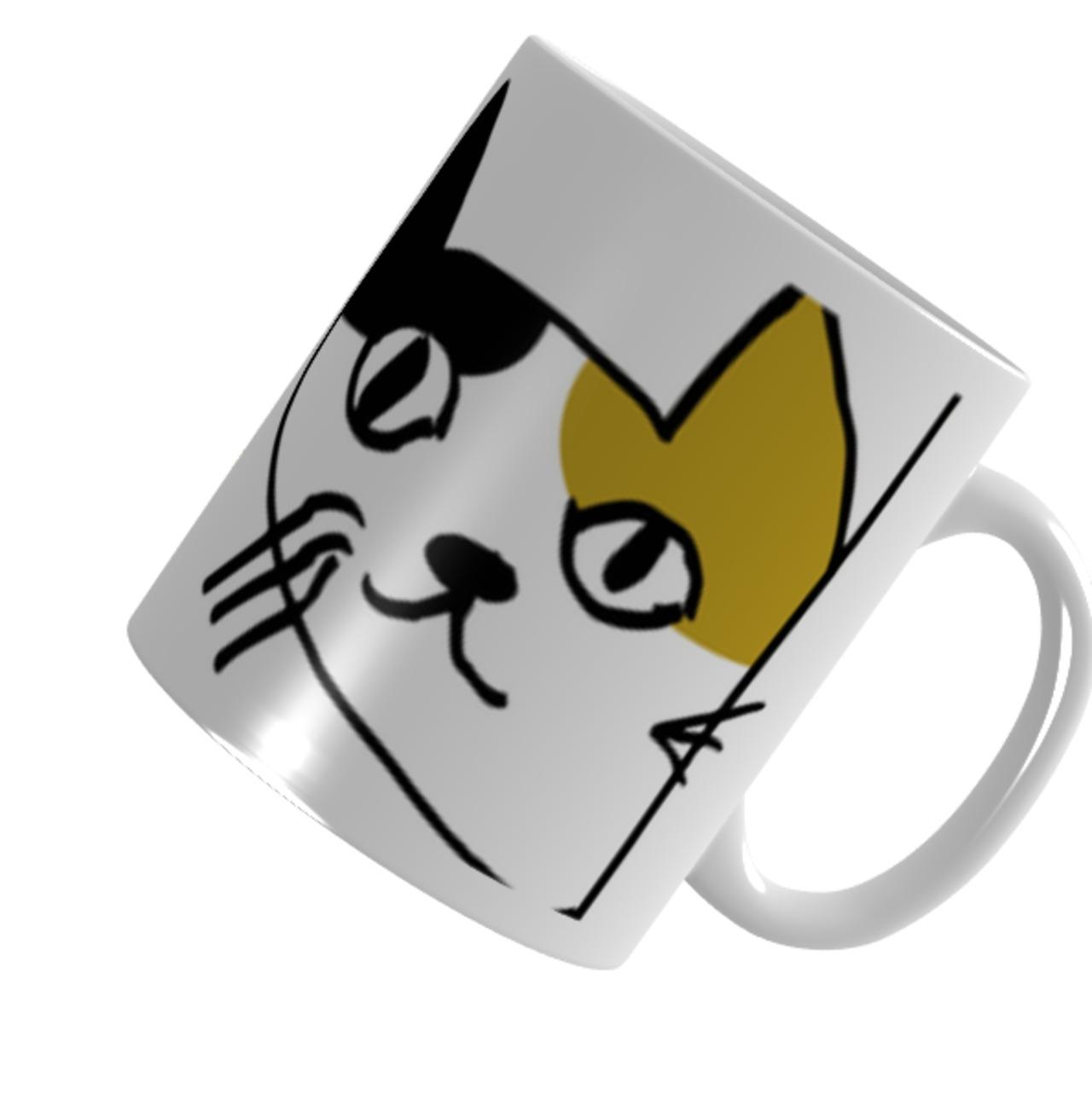 猫庭三毛マグカップ【きなこ】