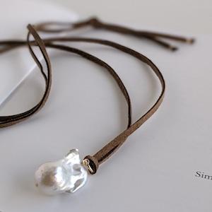 オイスターバロックパール コードネックレス -Oyster baroque pearl-