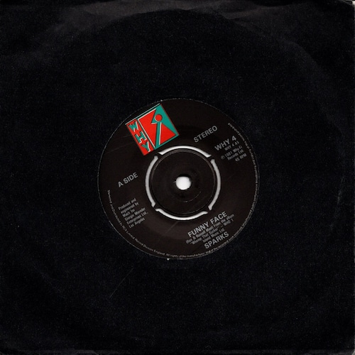 【7inch・英盤】Sparks / Funny Face
