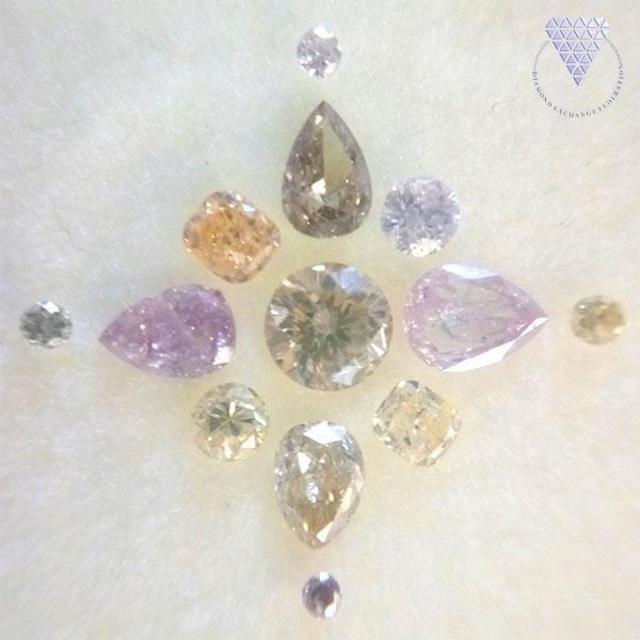 合計 約 0.97ct カラーミックス 天然 ダイヤモンド