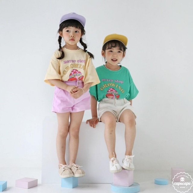 «sold out»«ジュニアサイズ» bubble kiss mushroom T マッシュルームTシャツ