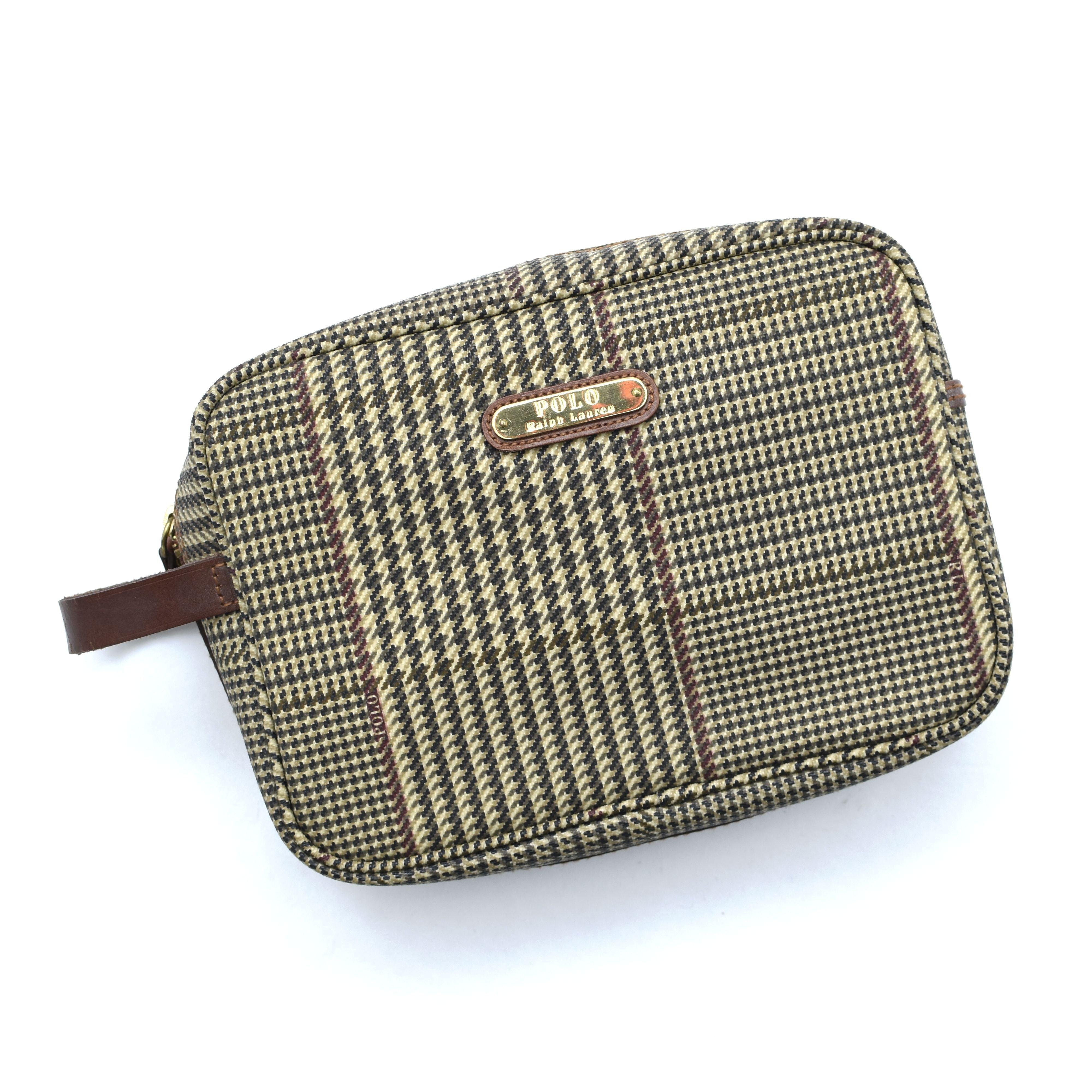 Old POLO Ralph Lauren check clutch bag