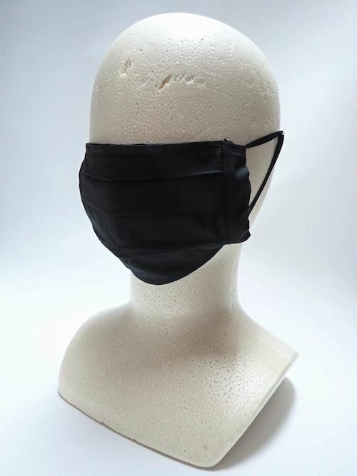 リユース可 プリーツデザイン布マスク 黒