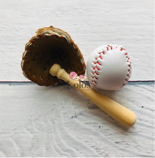 野球道具ミニュチュア3点set