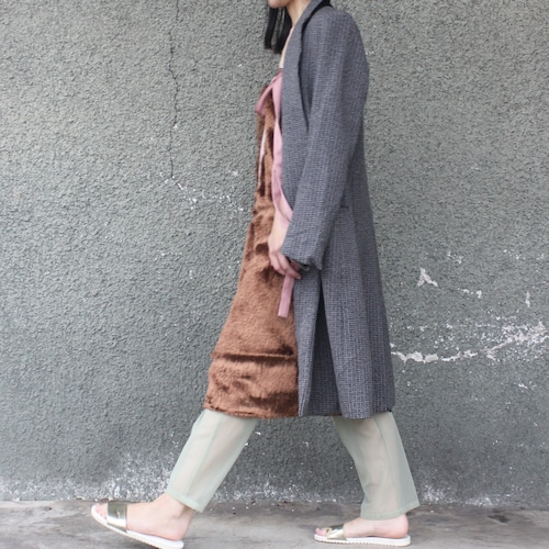 Fur wrap skirt