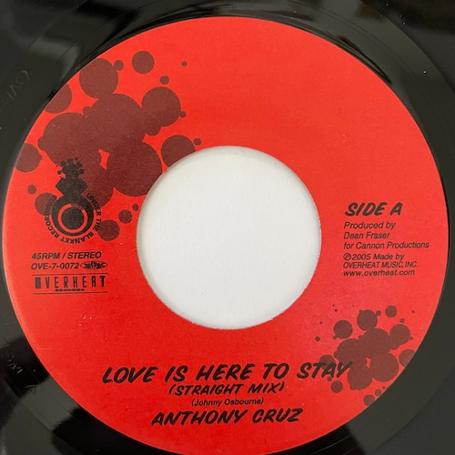 Anthony Cruz - Love Is Here To Stay【7-20732】