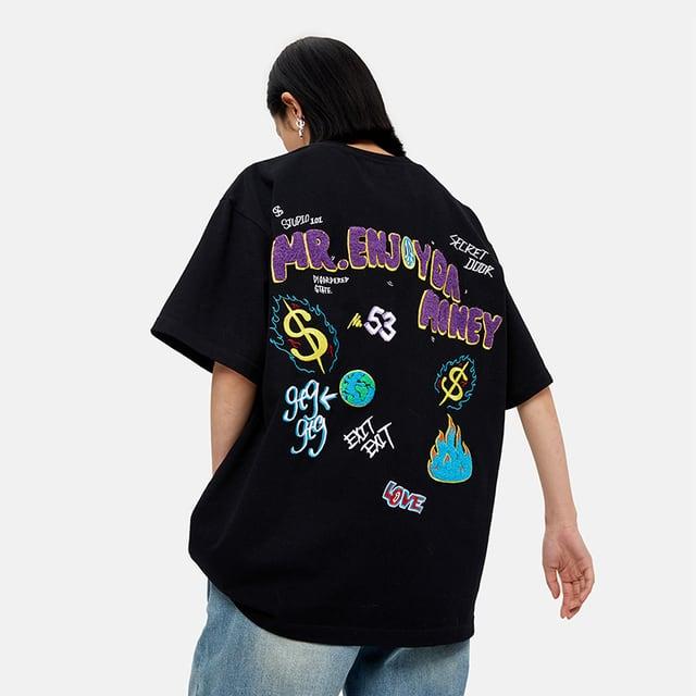 【MEDM】バックワッペン刺繍Tシャツ