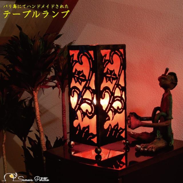 フロアライト 082-831 フロアスタンド 角 赤 ムードライト 寝室照明 間接照明 照明 リビング 玄関 アジアンテイスト