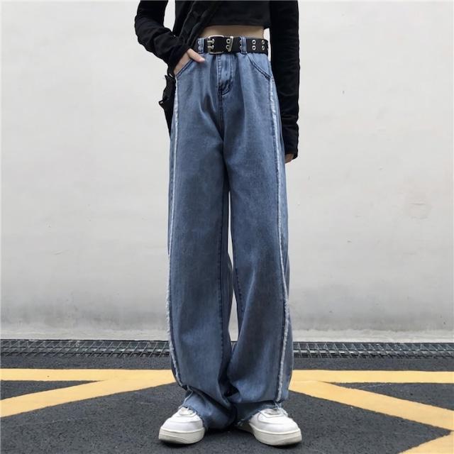 フリンジラインストレートジーンズ(全1色) / HWG481