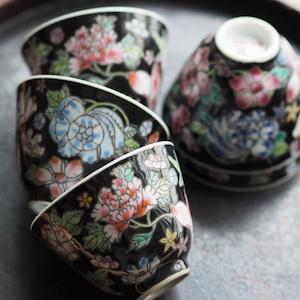 『黒花の茶杯/湯飲み』景徳鎮