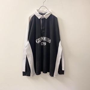 GUINNESS ラガーシャツ ホワイト/ブラック コットン size XL メンズ 古着
