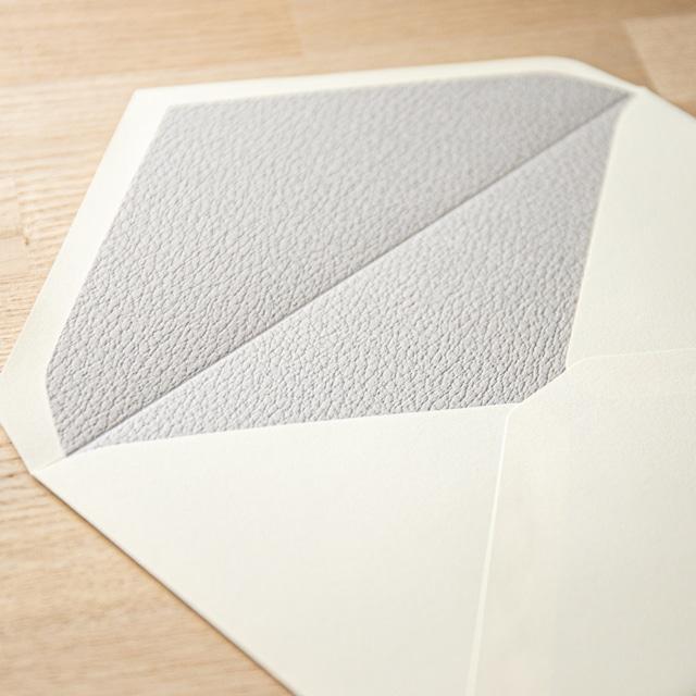 飾り紙 レザーグレー(洋1封筒用)| 10枚
