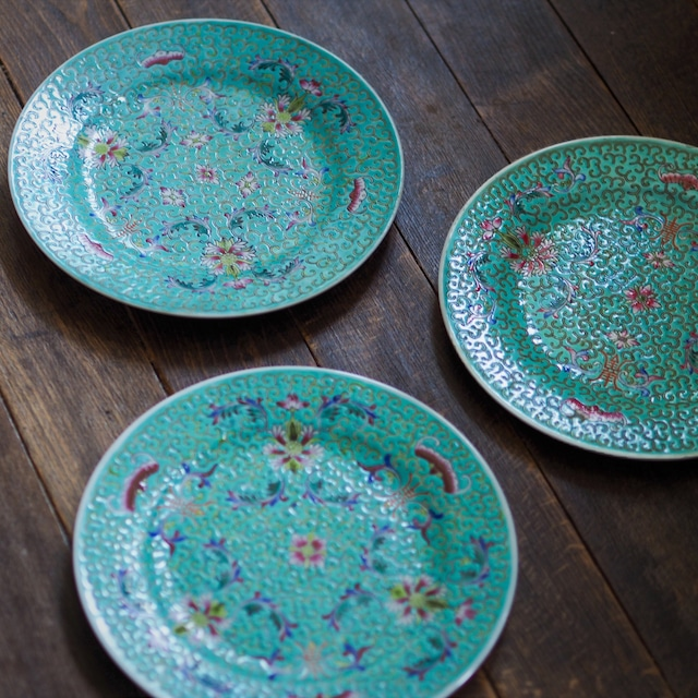 『翡翠の丸皿20センチ』景徳鎮