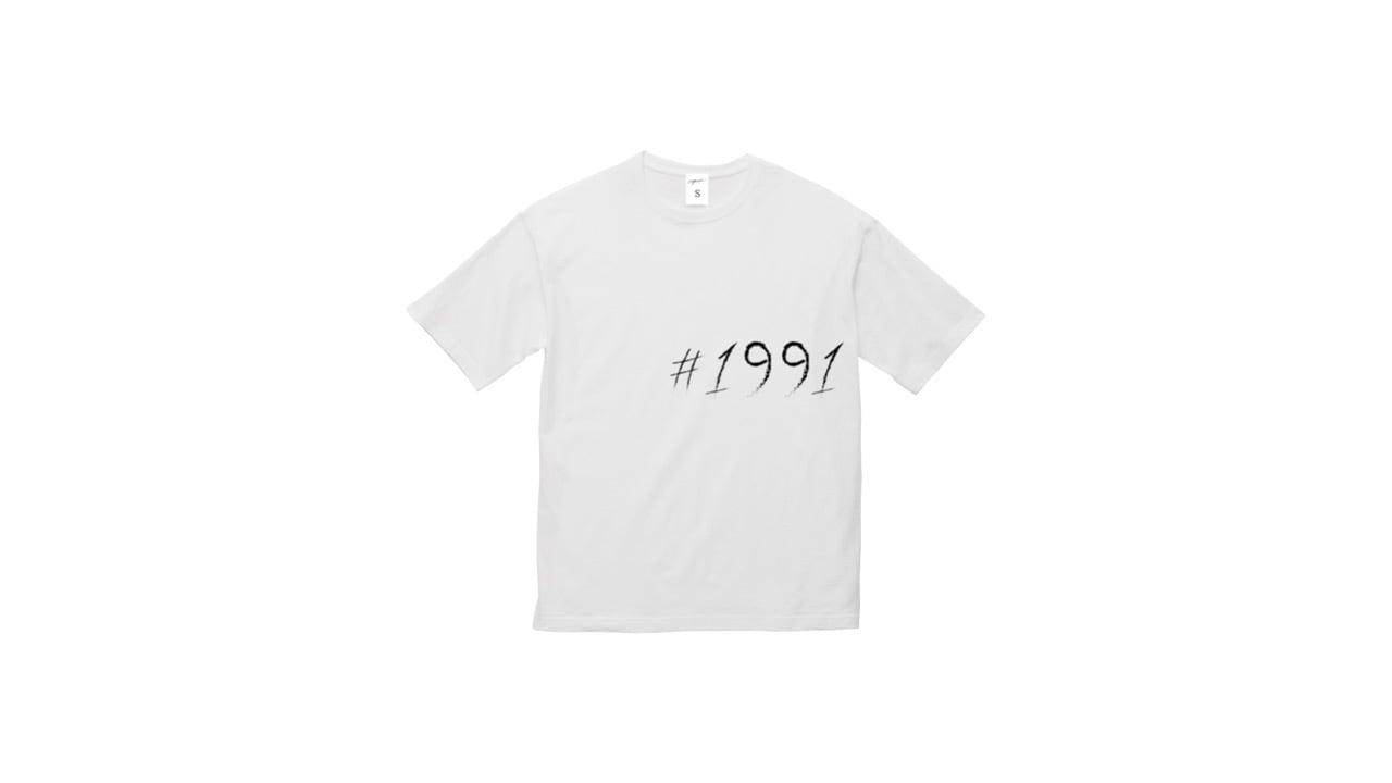 1991 big logo graphic T-shirts (WH)