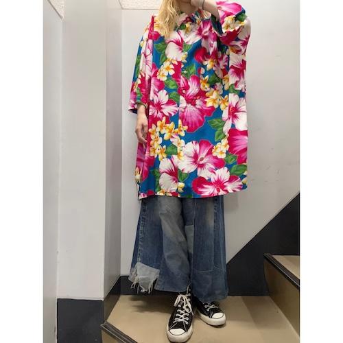 90's Ralph Lauren B/D 花柄レーヨンシャツ