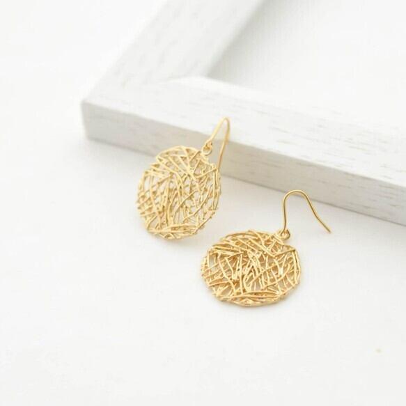 Mesh plate pierces(gold)