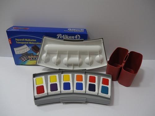 ペリカン固形透明水彩 24色