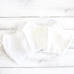【おおやまとみこ】立体布マスク(レース・野花)・大人用サイズ/マスク