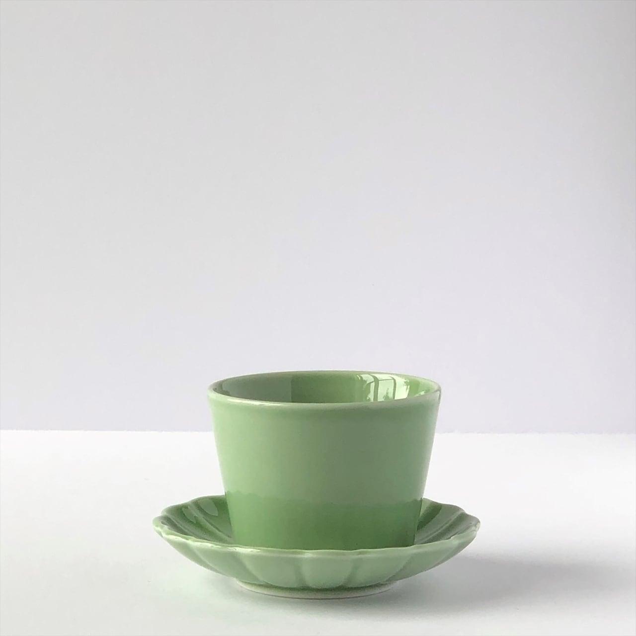 有田焼【for you】おそろいカップ&ソーサー ピスタチオ 製造:江口製陶所