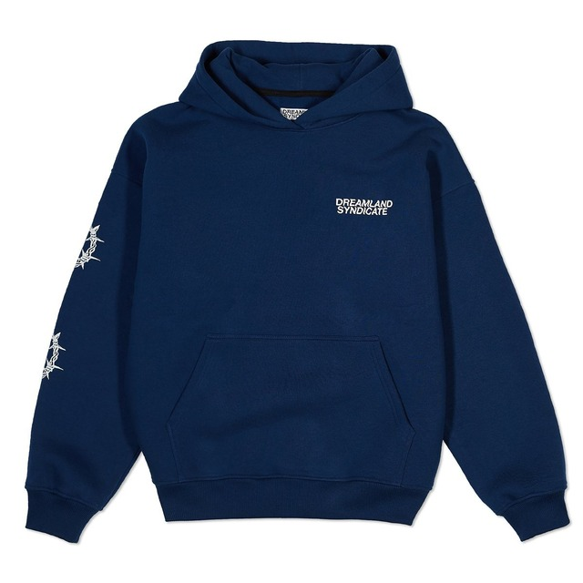 DREAMLAND SYNDICATE WIRE/FLOWER OVERSIZED HOODIE NAVY