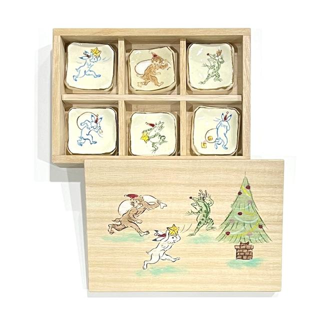 【ご予約商品】高山寺画 クリスマス 箸置き《陶泉窯》