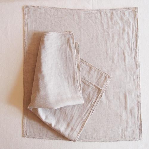 Pour moi  Moon Cloth #gray inner cloth   オーガニックコットン 布ナプキン 中布2枚組
