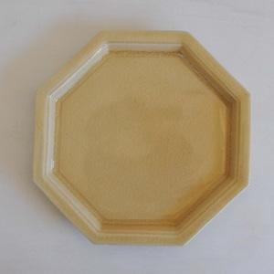 渡辺信史 灰釉八角皿(017)