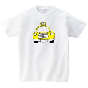 タクシー Tシャツ メンズ レディース 半袖 シンプル ゆったり おしゃれ トップス 白 30代 40代 ペアルック プレゼント 大きいサイズ 綿100% 160 S M L XL