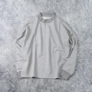 【HARVESTY】MOCK NECK PULLOVER SWEAT (GRAY) (UNISEX) スウェット モックネック ユニセックス 日本製 ハーベスティ
