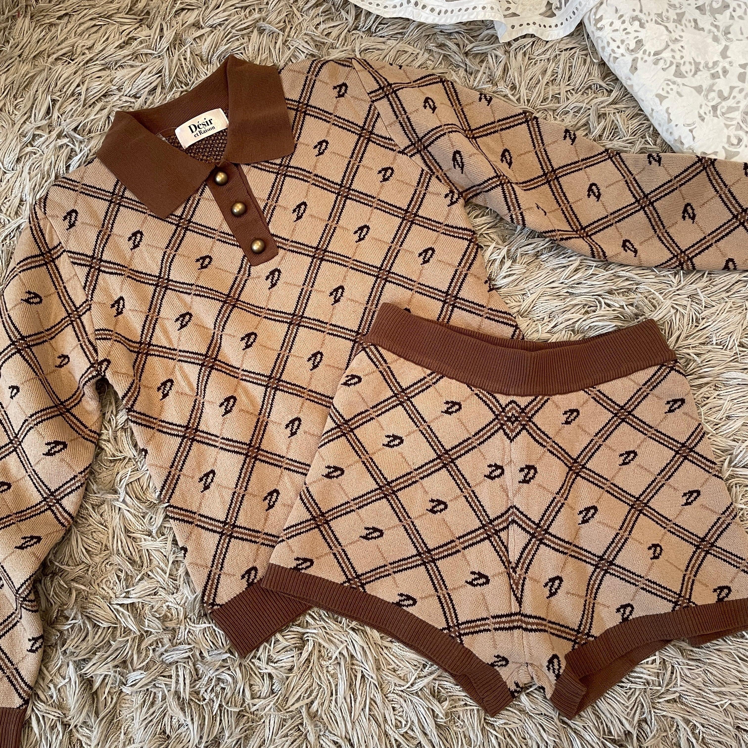 Désir original monogram knit setup