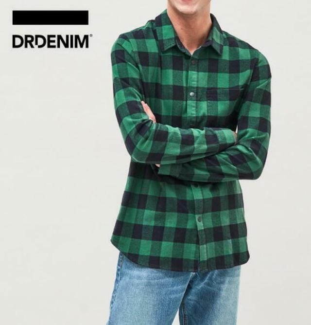 ドクターデニム DR.DENIM シャツ チェックシャツ ネルシャツ メンズ 長袖 IDRIS SHIRT【正規取扱店】