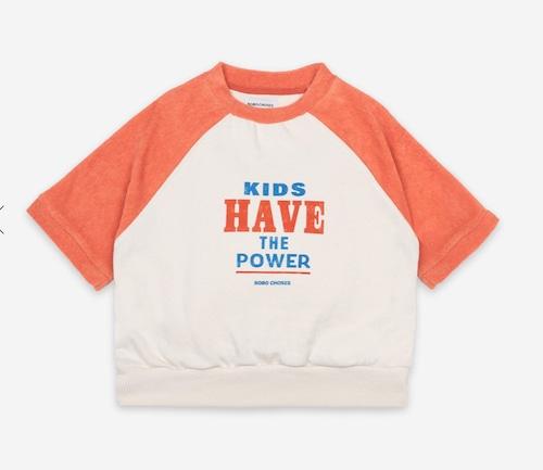 SALE!!【Bobo Choses】ボボショーズ Kids Have The Power Short Sleeve Sweatshirt 海外子供服 Tシャツ プレゼント