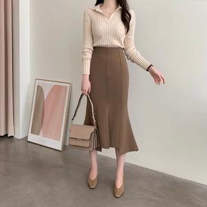裾ヘムタイトスカートML1708