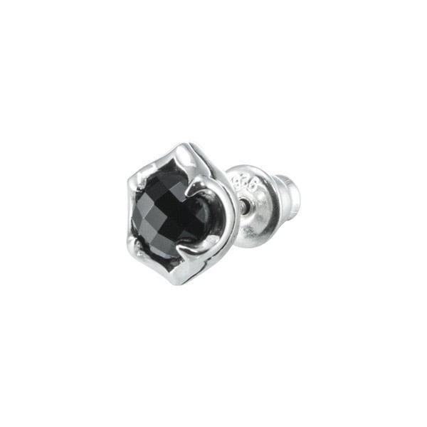 ブラックスピネルスタッドピアス ACE0128 Black spinel stud earrings
