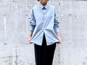 Double collar shirt jacket - sax