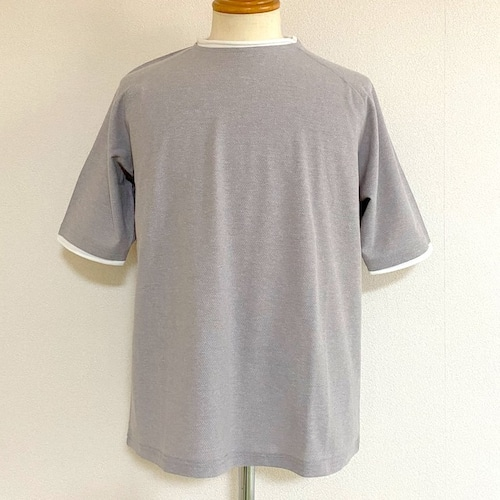 Ripple JQ Role Neck T-shirts Light Gray Moku