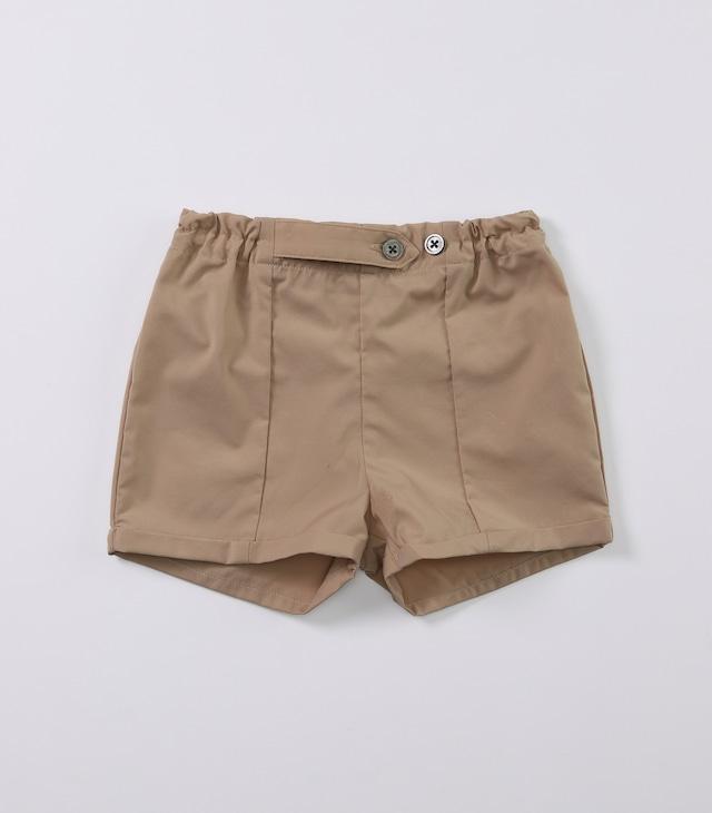 【ベビー服】タフタハーフパンツ / カシューナッツ / 80~100サイズ