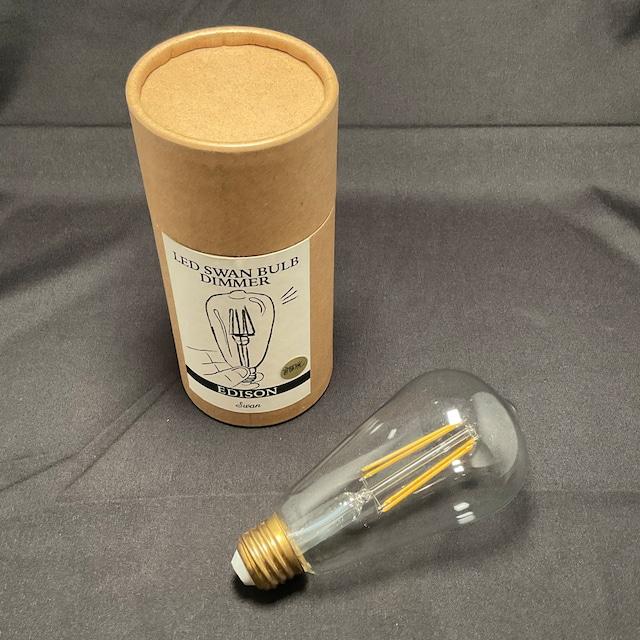 E26 60W相当《調光器対応》 エジソンランプ形 (E052L)(LED電球)
