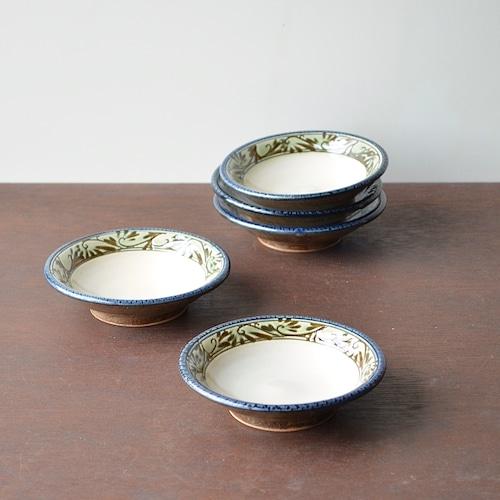 緑釉唐草文3.5寸皿